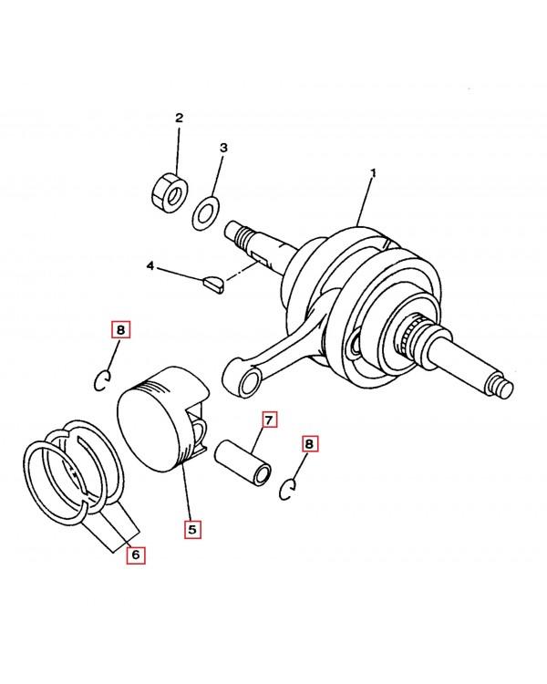 Original piston group kit (piston, rings, finger, stopper) for ATV LINHAI 300 with head index LH173
