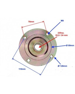 Wheel hub rear with a center size of 110 mm for ATV 150, 200