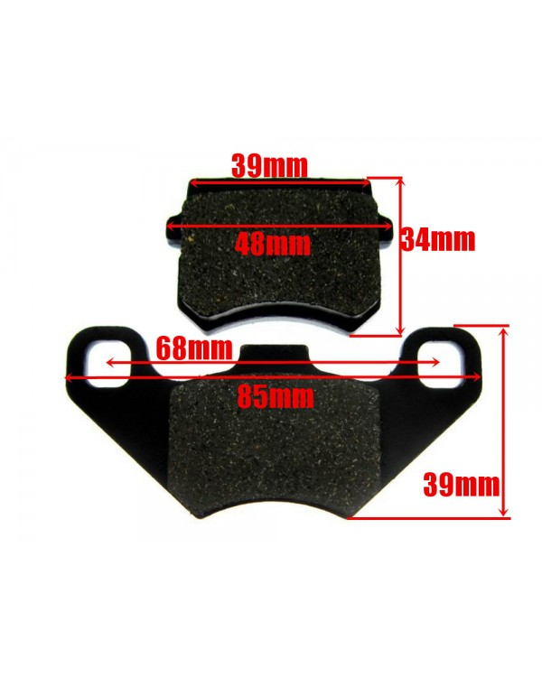 Pads brake set front and rear from ATV 150 200 250 Bashan