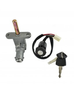 Original ignition switch and steering wheel lock for ATV Bashan BS250S-5 with gearbox