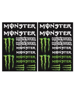 Original set of MONSTER stickers for Cross and Enduro motorcycles