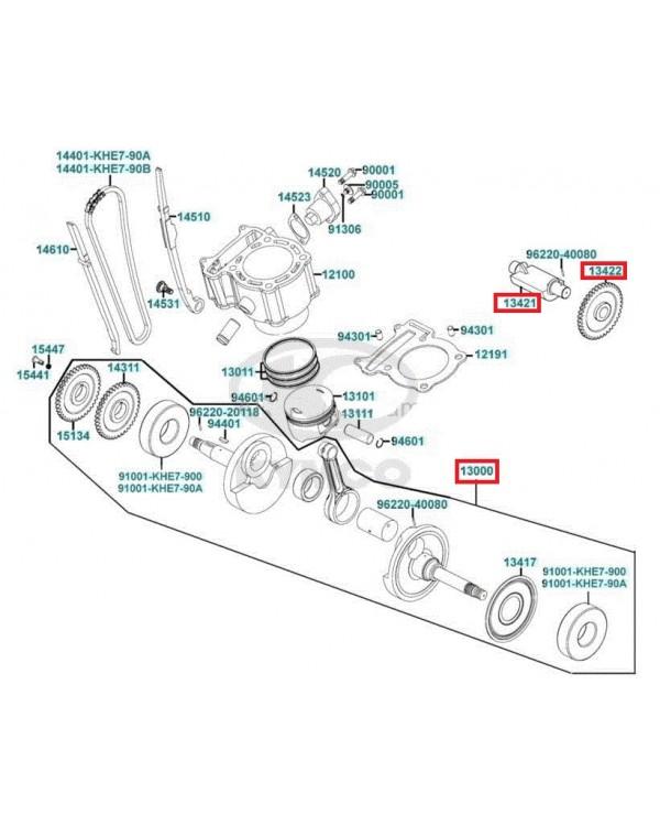 Set of crankshaft Assembly and damper shaft for ATV KYMCO MXU, MAXXER, KXR 250