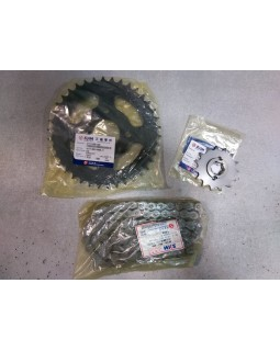 Drive chain, star leading and star driven set for ATV SYM QUAD LANDER 250, 300