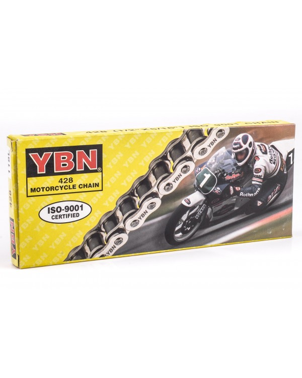 428h drive chain (120 links) for any ATV 150 from YBN company
