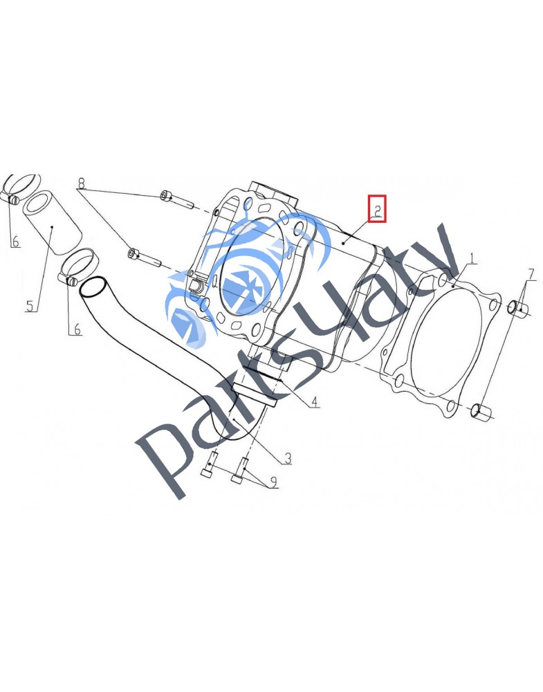 Оригинальный цилиндр ДВС для UTV, ATV Linhai 700 индекс 1102