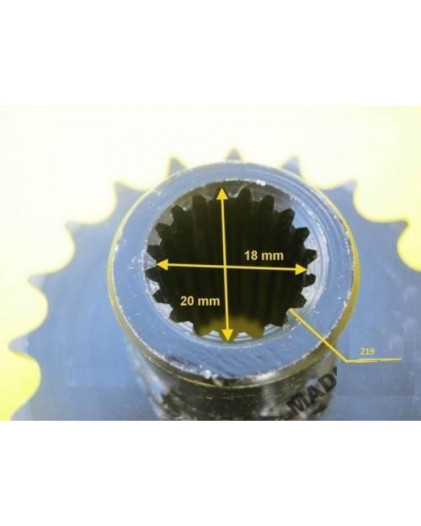 Drive star with bushing (front) 19 teeth, 428 chains for 150cc ATV