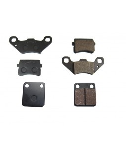 Brake pads set front and rear for ATV BASHAN 150, 200, 250
