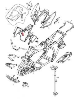 Original front plastic (fenders) for ATV ADLY 400, 500 HURRICANE, SUPERMOTO