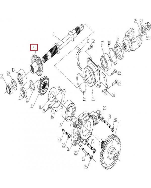 Original Large Cone Gear Box for ATV LINHAI 700, 750 with LH1102U engines