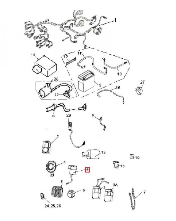 Original turn signal relay of a new model for ATV LINHAI 300, 400, 500