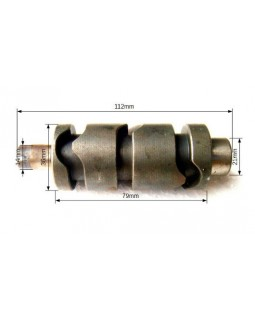The shaft of the gear selection transaxle for ATV BASHAN 200, 250