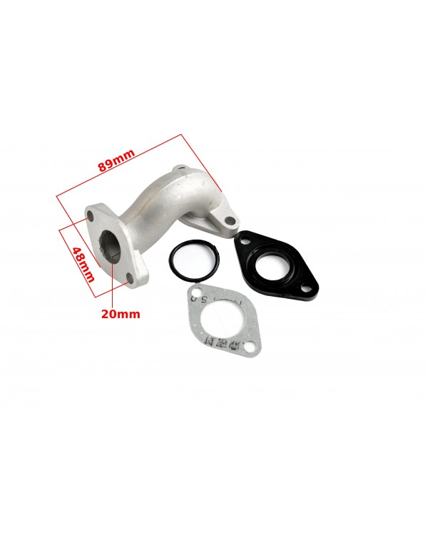 Manifold inlet pipe with gaskets for ATV 70, 110, 125