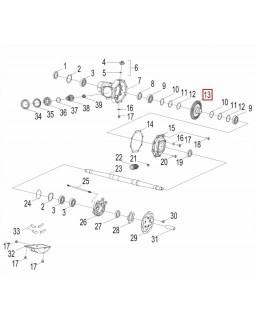 Original Rear Gear Bevel Gear for ATV AEON CROSSLAND 300, 350, 350RX, 350X4, 400, 400RX - 4x4