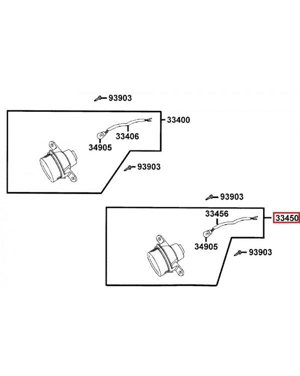 Original left turn signal for ATV KYMCO MXU 150, 250, 300, 500