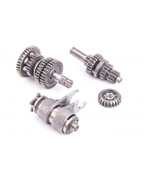 The shafts of the gearbox 3+1 reverse gear for ATV 110
