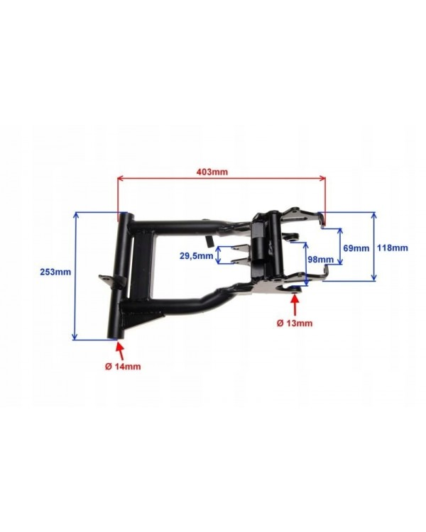 Rear swingarm for ATV BASHAN Quad bike 150 automatic