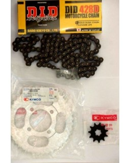 Drive chain, star drive and star driven kit for scooter Kymco ACTIV, NEXXON 50