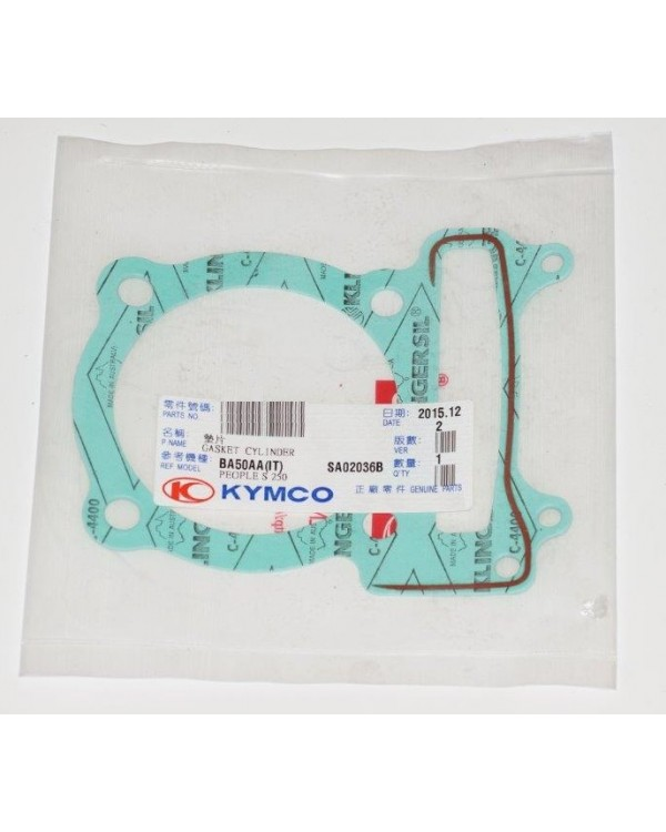 The original gasket under the cylinder for ATV KYMCO MXU, KXR, MAXXER 250, 300