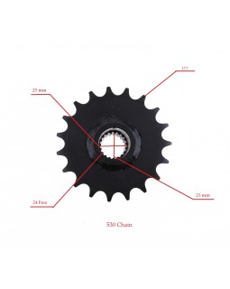 Drive star (front) 17 teeth, 530H chains for ATV 150, 200