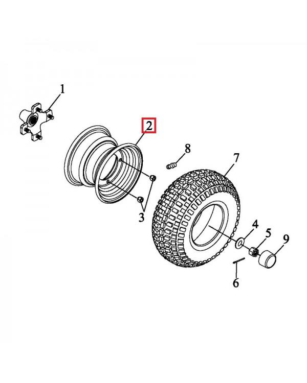 Original rear steel wheel drive for ATV LUCKY STAR ACCESS SP 250, 300, 400