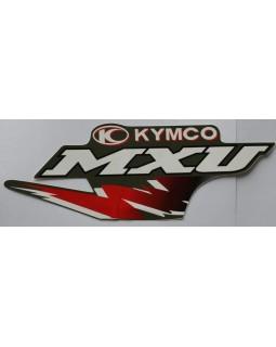 Original sticker on the fuel tank for ATV KYMCO MXU 250, 300 black