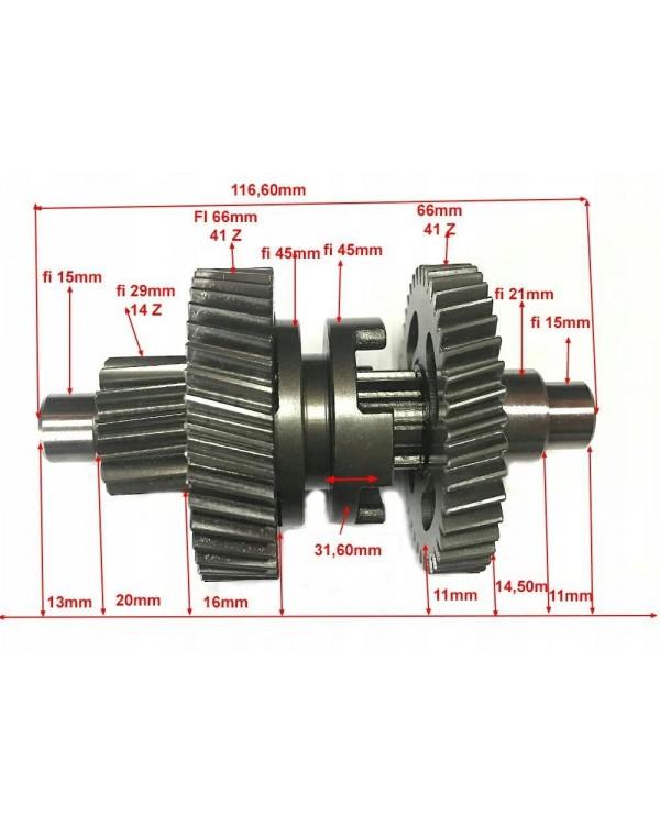 Original transmission intermediate shaft for ATV FUXIN 200 CVT