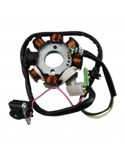 The winding of the generator stator for ATV KINGWAY 110 - 8 coils