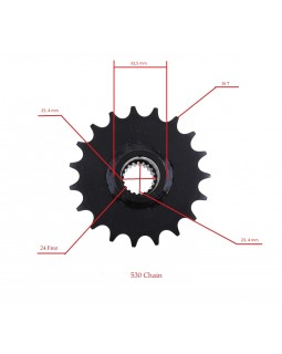 Drive star (front) 16 teeth, 530H chain for ATV 150, 200
