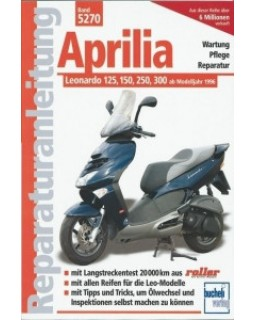 Original user manual for scooters Aprilia Leonardo 125, 150, 250, 300