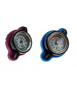 The radiator cap with temperature indicator for any ATV