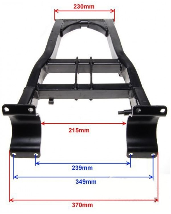 The rear independent suspension lever (pendulum) for ATV SHINERAY 250 ST-9C