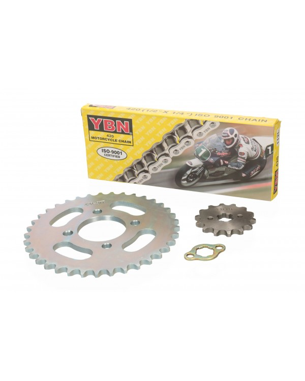 Set of lead, lead star and 420h chain for 50, 70, 90, 110, 125 quads