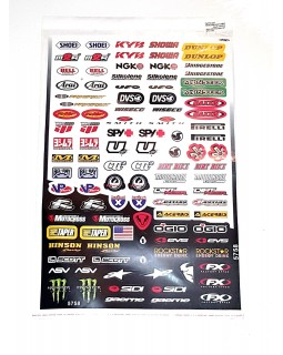 Set of sponsorship stickers for any ATV
