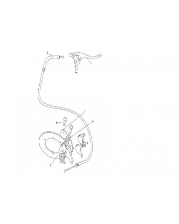 The original set of brake pads handbrake for ATV LINHAI ATV 300, 400, 500, 600, 700