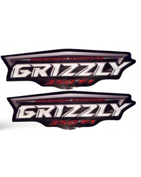 Stickers on Yamaha Grizzly 350, 450, 550, 660, 700