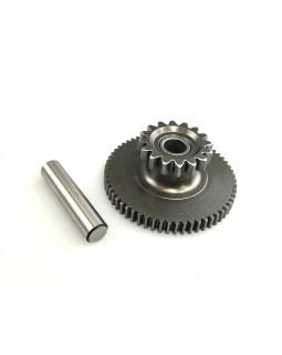 Original intermediate starter gear and finger for ATV BASHAN 200, 250