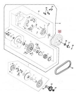 Original Clutch bell for ATV ADLY 280, 320 CANYON, HURRICANE, SUPERMOTO