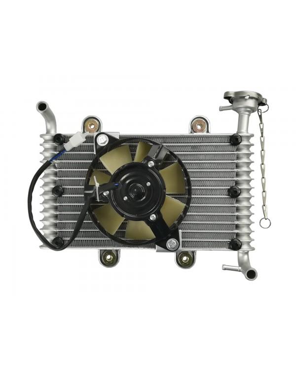 Original radiator with fan for ATV Bashan 200, 250 ORG