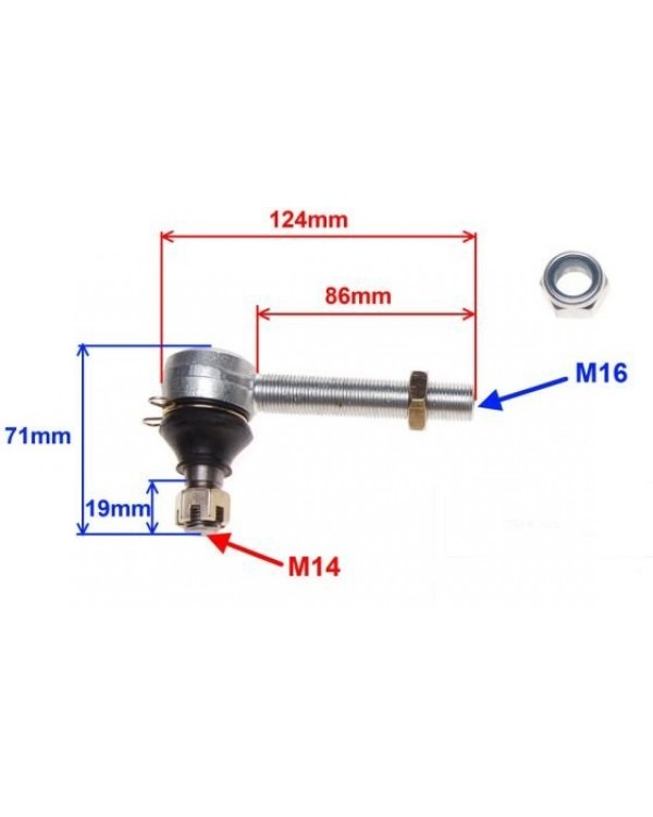 Top ball bearing for ATV 110, 125, 150