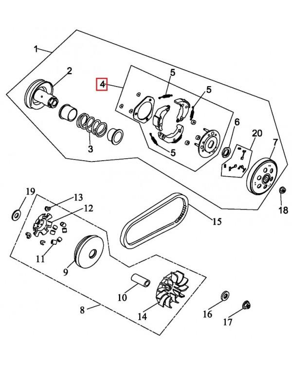 Original CVT clutch for ATV LUCKY STAR ACCESS SP 250, 300, 400