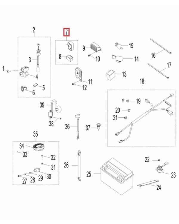 Original CDI Ignition Module for ATV AEON CROSSLAND 350, 350RX, 350X4 - 4x4