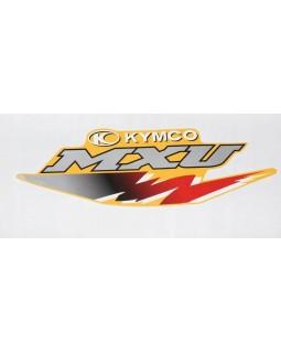 Original sticker on the fuel tank for ATV KYMCO MXU 250, 300