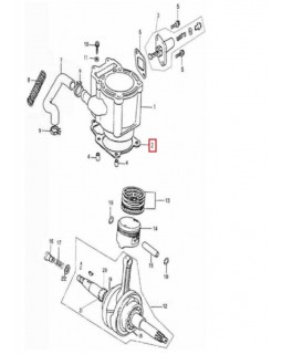 Original cylinder gasket for ATV ADLY 320 CANYON, HURRICANE, SUPERMOTO, LUXURY