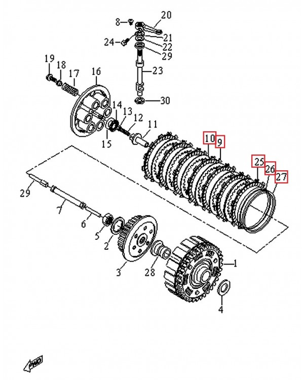 Original Clutch Kit (wheels and clutches) for ATV LUCKY STAR ACCESS SP 450