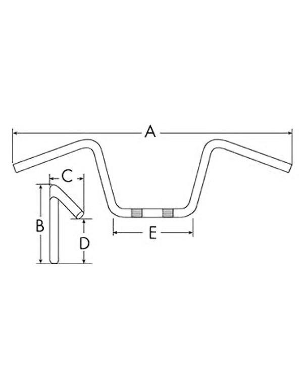 The original handlebars ATV SHINERAY XY250ST-9C