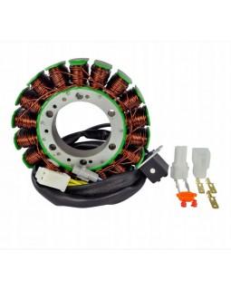 The winding of the generator stator for ATV SUZUKI KINGQUAD 700, 750