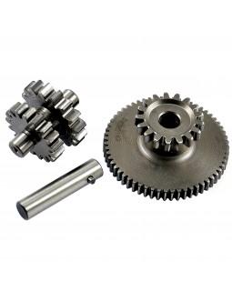 Original intermediate gear, finger and small double starter gear for ATV BASHAN 200, 250