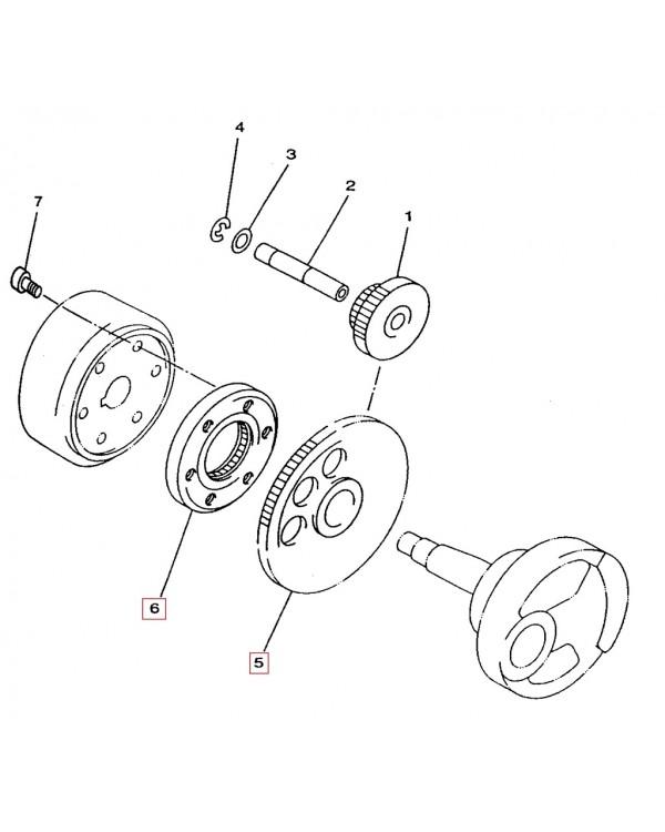 Original overrunning clutch and Bendix Assembly for the LINHAI ATV 260, 300, 400