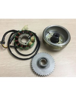 Original starter clutch, magneto and generator stator Assembly for ATV LIFAN 250